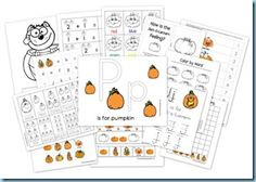 Pumpkin Printables & More - 1+1+1=1
