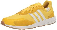 adidas Women's Retrorun Sneaker, EQT Yellow/Cloud White/Gum, 5 M US adidas Yellow Cloud, Adidas Sneakers, Shoes Sneakers, Adidas Brand, Road Running, Latest Sneakers, Sneaker Stores, S Star, Adidas Women