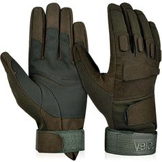 Vbiger Military Tactical Gloves Outdoor Full Finger Workout Gloves Airsoft in Sporting Goods, Hunting, Tactical & Duty Gear, Tactical Gloves Leather Motorcycle Gloves, Leather Gloves, Biker Gloves, Motorcycle Gear, Tactical Gloves, Tactical Gear, Tactical Clothing, Ski, Workout Gloves