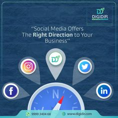 Social Media Marketing is the compass that gives the opportunity for businesses to present in front of potential customers.  With personalized #SocialMediaMarketing strategies, #DigiDir helps you to unlock multiple #business opportunities!  Connect with us today at +91-9999340468 or info@digidir.com Digital Marketing Services, Social Media Marketing, Website Company, Growing Your Business, Business Opportunities, Compass, Opportunity, Connect, Logo Design
