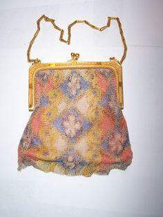 Vintage Antique Beaded Bag | eBay