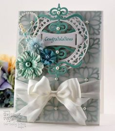 Congratulations - Vellum by Becca Stamps - Cards and Paper Crafts at Splitcoaststampers