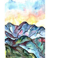 Всё еще разбираюсь с архивами. Обещаю закрыть тему гор на некоторое время и рассказать, как обстоят дела с моей движухой #накаждойстранице , потому что есть что рассказать. . . . #горы #акварель #рисунок #рисование #иллюстрация #набросок #art #artwork #mountains  #watercolor #sketch #illustration #draw #2014 #архив