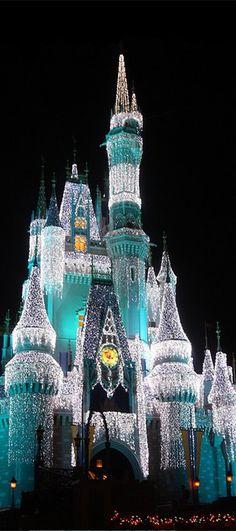 Cinderella's Castle at Christmas   cynthia reccord