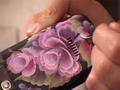 One Stroke Painting. Decorating your phone. Tatiana Kudryavtseva