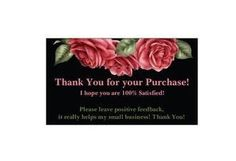 I have listed a 100 Elegant Thank You for your purchase cards They are business card size All my items come from my smoke & pet free home. Black And Red Roses, Pink And Gold, Thank You Stickers, Thank You Cards, Gift Cards, Purchase Card, Merry Christmas Santa, Gold Polka Dots, Business Card Size