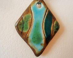 Amphora pendant Mediterranean. Ceramic jewelry. Clay by ClayAna