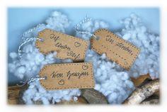 """Geschenkanhänger """"Liebe""""  von DaiSign auf DaWanda.com"""