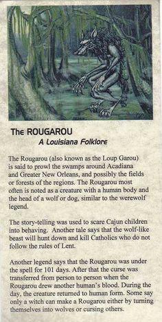 ROUGAROU aka LOUP GAROU Folk Stories