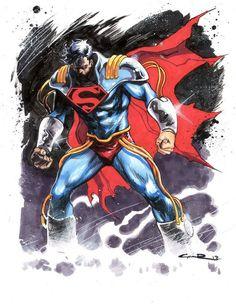 Superboy-Prime by Yildiray Cinar Dc Comics Superheroes, Dc Comics Characters, Dc Comics Art, Superboy Primordial, Superboy Prime, Comic Villains, Batman And Superman, Superman Stuff, Superman Family