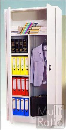 De garderobekast CHT 195 is uitgerust met een legplankgedeelte en een hanggedeelte. Hierdoor is de garderobekast veelzijdig in te zetten. De kast is leverbaar in de kleuren grijs en zwart.