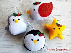 Christmas ornaments felt ornament Christmas felt Decor