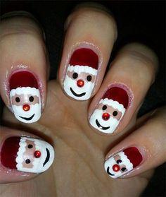 Image issue du site Web http://fabnailartdesigns.com/wp-content/uploads/2013/11/Easy-Santa-Nail-Art-Designs-Ideas-2013-2014-Xmas-Nails-2.jpg