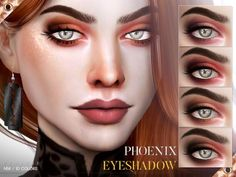 The Sims Resource: Phoenix Eyeshadow N56 by Pralinesims • Sims 4 Downloads