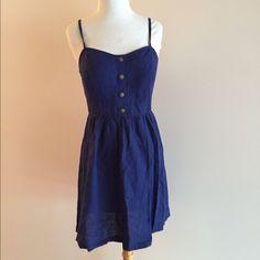 Spotted while shopping on Poshmark: Navy Blue Linen Dress! #poshmark #fashion #shopping #style #Petticoat Alley  #Dresses