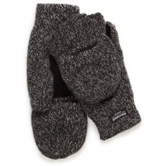 Flip-top mittens ($16) ❤ liked on Polyvore featuring accessories, gloves, lined gloves, mitten gloves, palm gloves and lined mittens