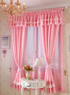 Window design: 37 ideas for curtain trends and color choices – house decoration more – Curtains 2020 Bed Drapes, Cute Curtains, Bedroom Drapes, Shabby Chic Curtains, Beautiful Curtains, Modern Curtains, Shabby Chic Decor, Window Curtains, Bedroom Red