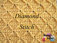 Crochet Stitches This free crochet pattern teaches you how to do the Diamond stitch using pictures and video tutorials. - This free crochet pattern teaches you how to do the Diamond stitch using pictures and video tutorials. Picot Crochet, Grannies Crochet, Stitch Crochet, Crochet Gratis, Tunisian Crochet, Love Crochet, Learn To Crochet, Crochet Motif, Afghan Crochet