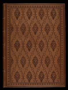 This binding is made of Morocco leather. #manuscript #illuminations #flowers #leather #parchment #bookcoverdesign #bookcover