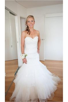 Spectacular Natural White Sweetheart Organza Wedding Dresses