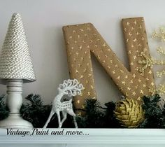 Vintage, Paint and more...: Christmas Mantel 2013