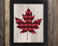 Items similar to Canadian Maple Leaf Print - Lumberjack Flannel - Canada Buffalo Plaid Poster - Canadiana - Made in Canada Canadian Sellers Hipster Rustic on Etsy Plaid Christmas, Christmas Crafts, Christmas Decorations, Christmas In The Country, Christmas Ideas, Canada Christmas, Christmas Pillow, Rustic Christmas, Buffalo Plaid