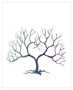 Style Unveiled - Wedding Fingerprint Tree - Alternative Guest Book - kinda looks like coral Wedding Fingerprint Tree, Fingerprint Art, Tree Templates, Heart Tree, Tree Wedding, Diy Wedding, Wedding Ideas, Wedding Pins, Wedding Book
