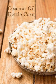 Coconut Oil Kettle Corn