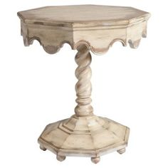 Check out this item at One Kings Lane! Wilson Octagonal Accent Table, Ivory
