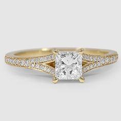 18K Yellow Gold Duet Diamond Ring