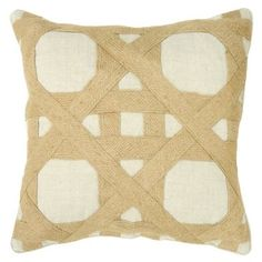 Check out this item at One Kings Lane! Hartford 18x18 Linen Pillow, Natural