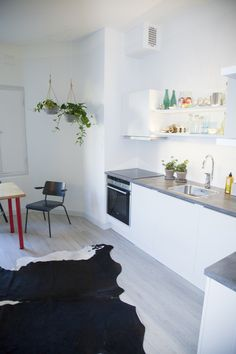 See and Feel Spatial Design Finland - Interior design - Combination of vintage furnitures, and modern HTH- kitchen with custom made details  - White and bright