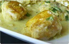 Médaillons de lotte au curry, coco et citron