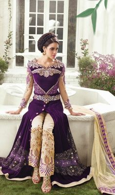 "Latest Velvet Embroidered Bridal Long Shirts 2015.Presently this time we have propelled new accumulation of Latest Velvet Embroidered Bridal Long Shirts Designs 2015""."