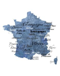 Map showing the various wine regions of France