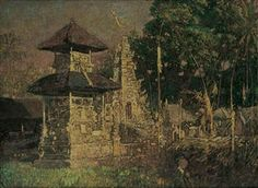 Balinese Temple By Lee Man Fong
