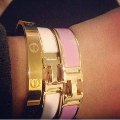 Hermes Clic Clac Bracelet And Cartier Love Things That I Call Pinterest Bracelets Birthday Wishlist