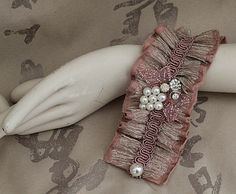 DUSTY ROSE Fabric Cuff Bracelet. $65.00, via Etsy.