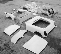 Fiberglass body part from a Chevrolet Corvette 1953.
