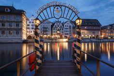 Pier Hotel Storchen Zurich, Switzerland, Opera House, Mansions, House Styles, Building, Travel, Home, Viajes