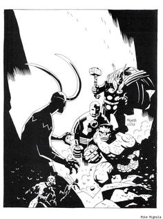 The Avengers by Mike Mignola