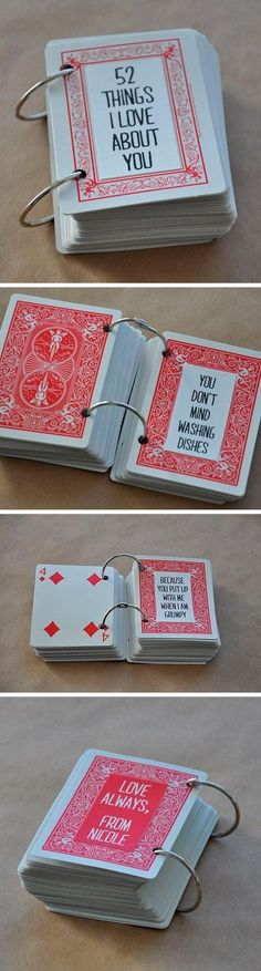 manualidad para san valentín con cartas