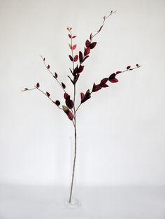 Lonicera Leaf Spray - Burgundy