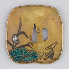 Sword Guard (Tsuba) |  Date: ca. 1615–1868 |  Medium: Copper alloy (sentoku), enamel, silver, copper