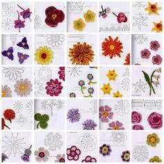 Crochet Flowers Tutorial By Carmen Heffernan : 1000+ images about flower crochet on Pinterest Crochet ...