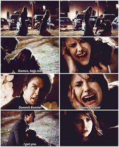 The Vampire Diaries: Bonnie, Damon, and Elena | #Delena