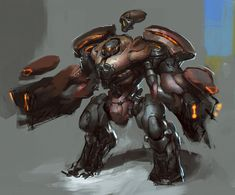 Commission work for BLACK SHUCK... A SAVER type mech concept for his IP: SAVIOR The Crusade.