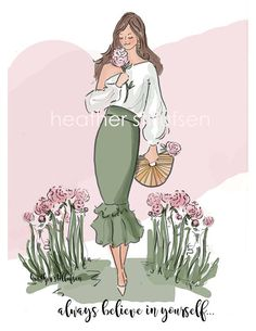 Always believe in Yourself - Heather Stillufsen Quotes - Fashion Wall Art