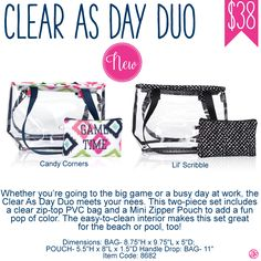 Clear As Day Duo by Thirty-One - Spring/Summer 2017 New Product