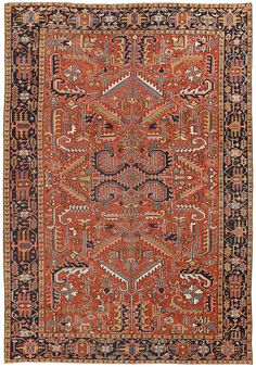 Antique Persian Heriz Rug 50138